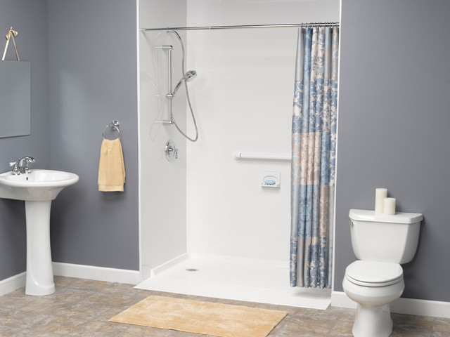handicapped accessible universal design showers traditional bathroom cleveland by. Black Bedroom Furniture Sets. Home Design Ideas