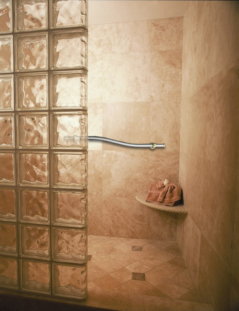 handicapped accessible universal design showers traditional bathroom