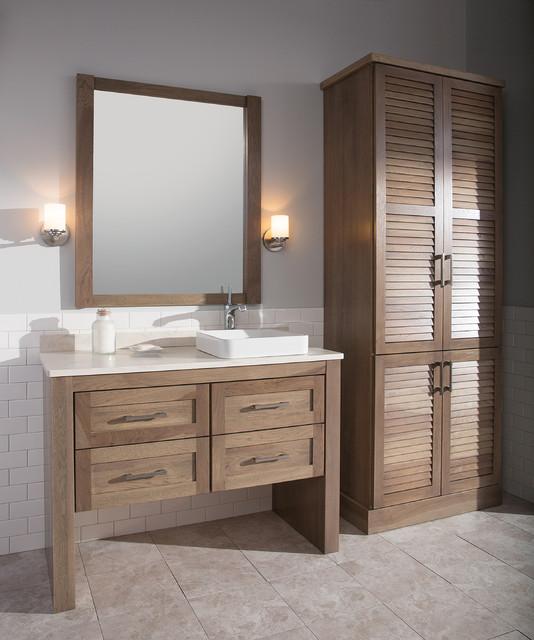Handsome Hickory Homestead Bath Vanity