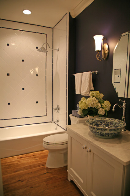 happy french country retreat traditional-bathroom