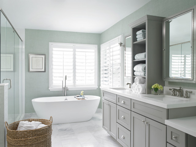 Coastal Contemporary  Transitional  Bathroom  other metro  by Krista Watterworth Design Studio