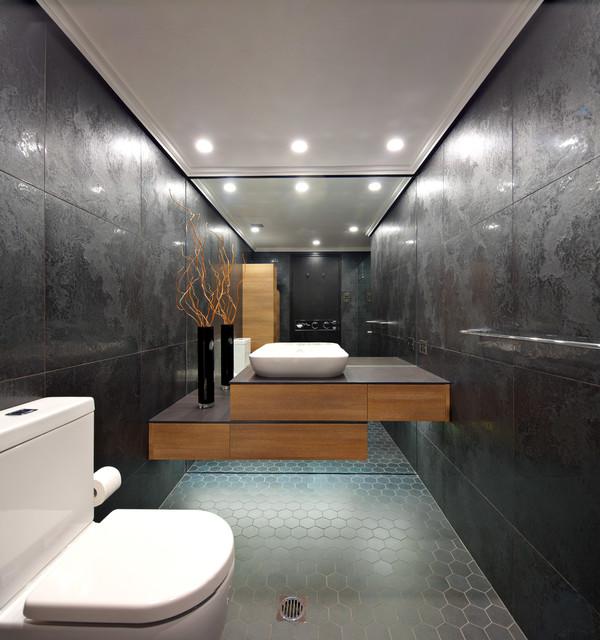 Harbourview crescent home bathrooms moderno stanza da - Stanze da bagno moderne ...