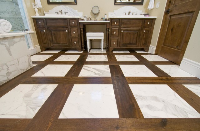 Hardwood flooring in bathrooms traditional bathroom for Hardwood floors in bathroom