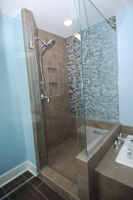 Hardwoods and Mosaics contemporary-bathroom