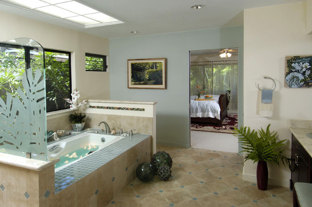 tropical bathroom by Archipelago Hawaii, refined island designs