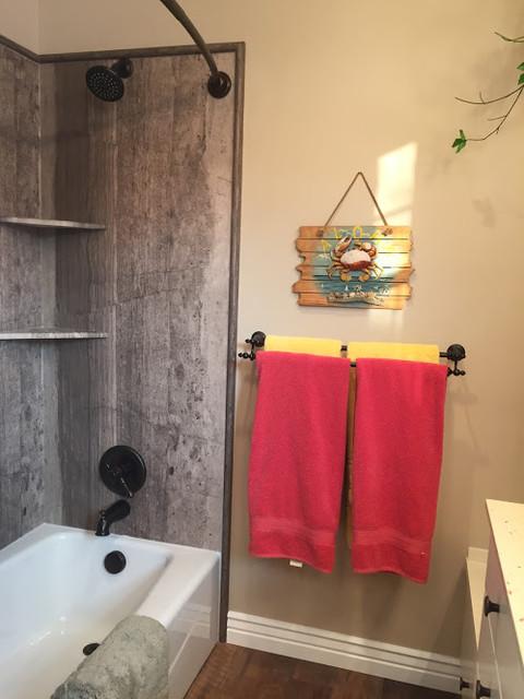 Hawaiian island inspired bathroom remodel beach style for Bath remodel salt lake city