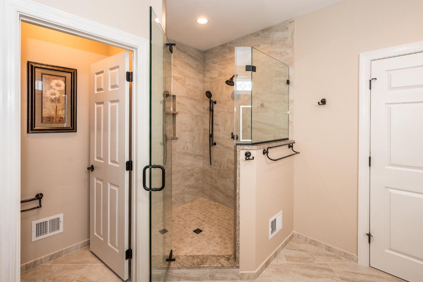 Haymarket Transitional Master Bathroom Remodel _ 13036
