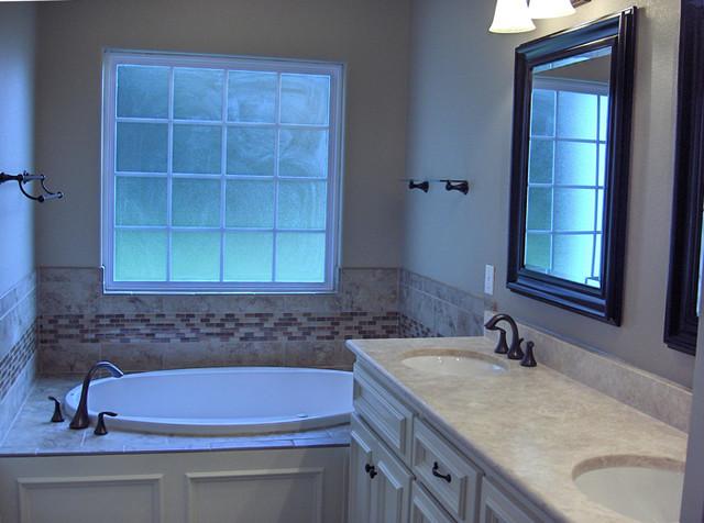 Example of a transitional bathroom design in Atlanta