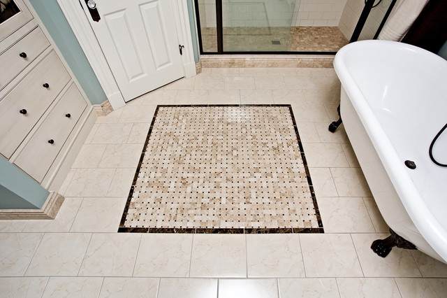 Heated Tile Floor Victorian Bathroom Minneapolis By Hoffman