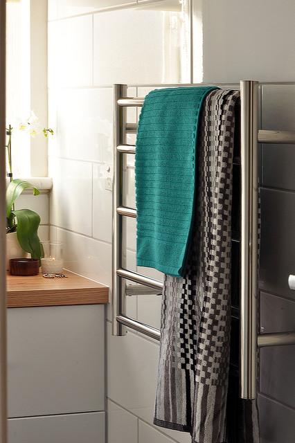 Heated Towel Rail Timber Bathroom Contemporary