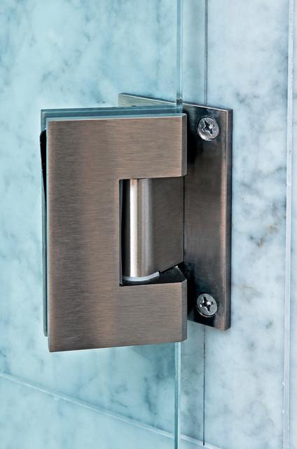 Heavy glass shower door hinge traditional bathroom for Glass shower doors portland