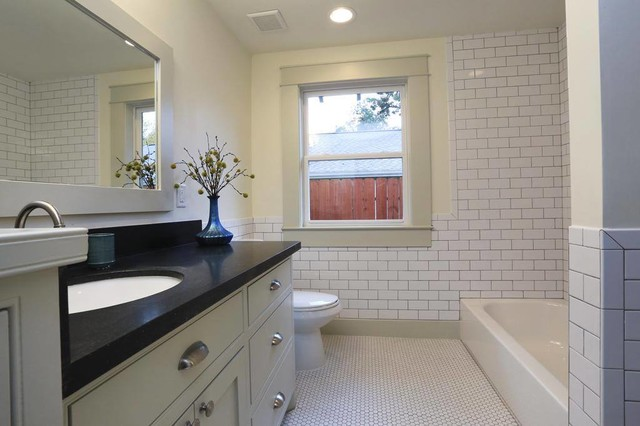 Heights Bungalow Remodel Craftsman Bathroom Houston