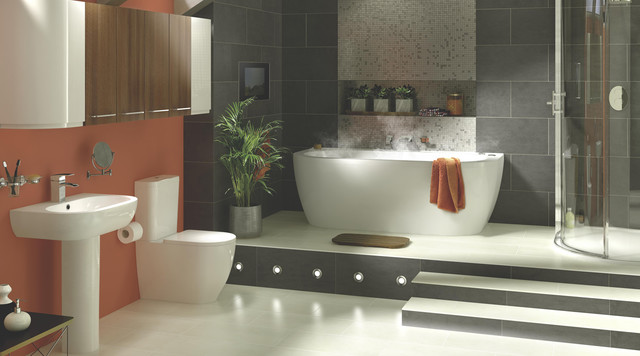 Helena bathroom suite modern badezimmer other metro for Bathrooms b q suites