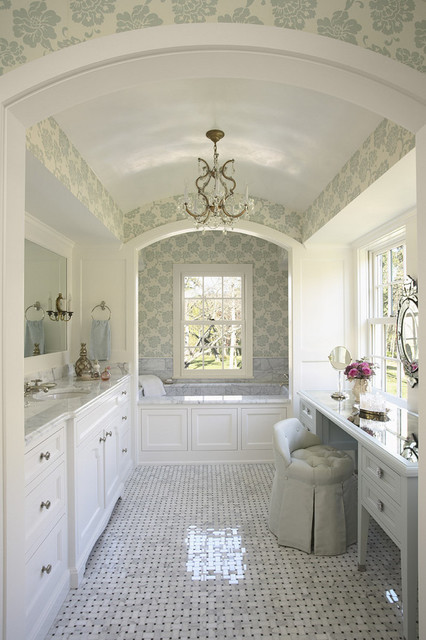 Her side of the master bath traditional-bathroom
