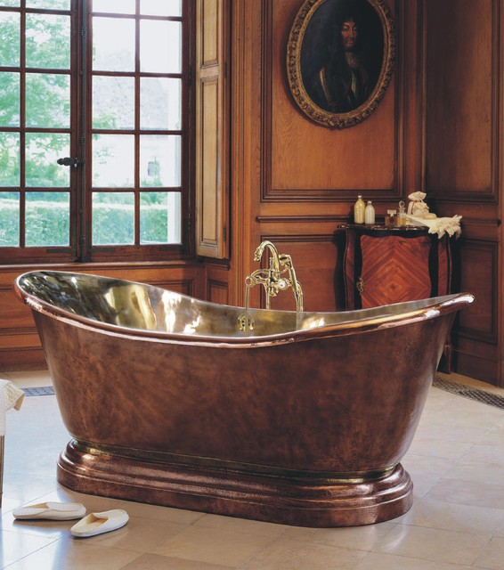 Herbeau Medicis Freestanding Copper Tub Traditional Bathroom
