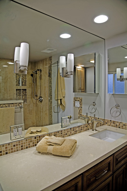 enlarge a small bathroom by proper mirror placement rh decosoup com bathroom mirror placement over vanity bathroom mirror replacement cost