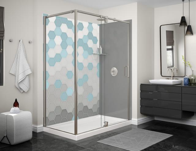 Hexa Wallpaper Designer Series   Waterfall Modern Bathroom
