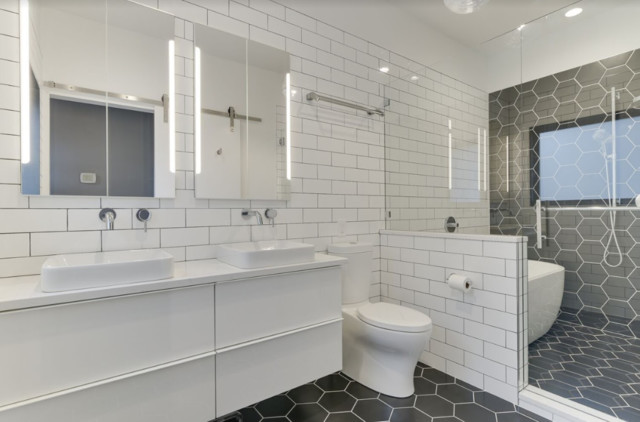 Hexagon And Subway Tile Bathroom Modern Bathroom Portland By Let S Remodel