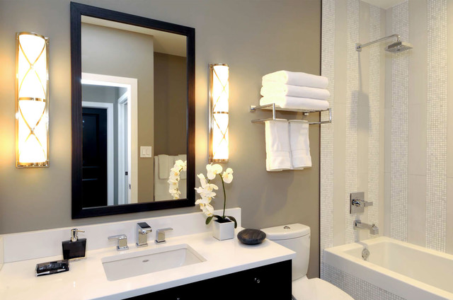 your bath: hotel-style towel racks
