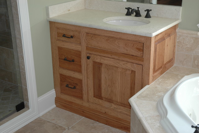 Hickory Cabinets traditional bathroom. Hickory Cabinets   Traditional   Bathroom   Chicago   by Custom