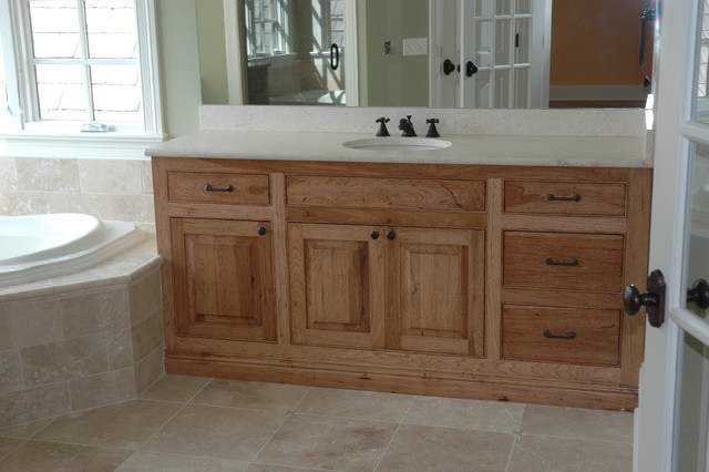 hickory cabinets traditional bathroom chicago by custom
