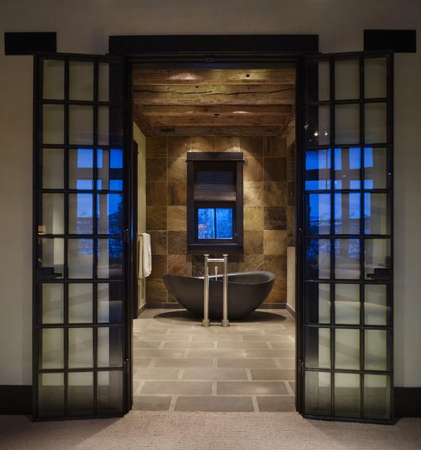 Yellowstone Residence Bathroom rustic-bathroom
