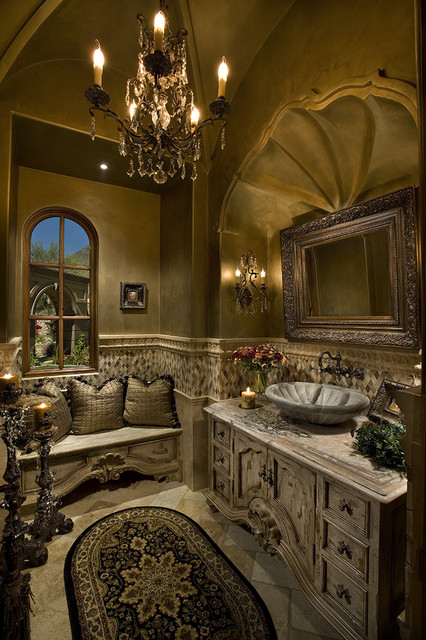 High End & Luxurious Bathrooms Built By Fratantoni Luxury Estates mediterranean powder room