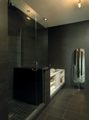 High rise apartment modern-bathroom