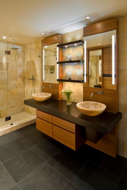 highrise condo  modern  bathroom  san francisco