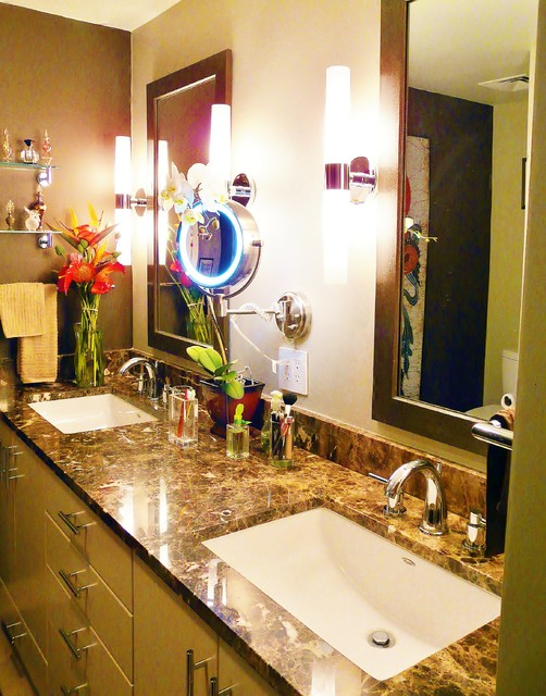 High Rise Master Bath Renovation contemporary-bathroom