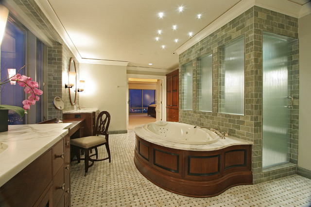 High Rise Master Bathroom contemporary-bathroom