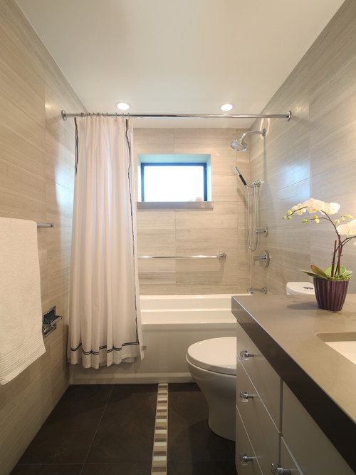 Is it ok to use 12 x 24 tile in small bathroom over tub for Small bathroom design 5 x 10