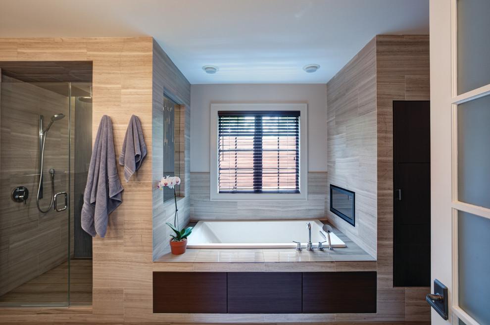 Trendy walk-in shower photo in Chicago