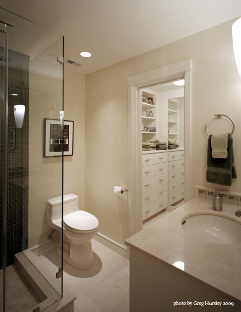 Highrise Interior Renovation contemporary-bathroom