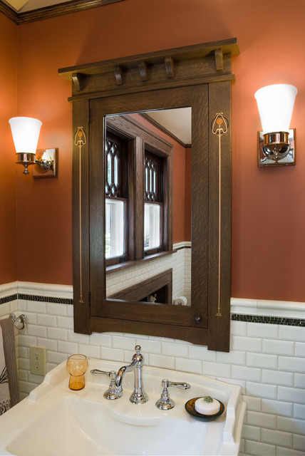 Hill house boys bathroom craftsman bathroom new york - Arts and crafts style bathroom design ...