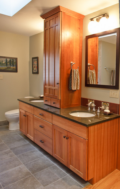 Craftsman Style Bathroom Wall Cabinets : Hillcrest house craftsman bathroom philadelphia by