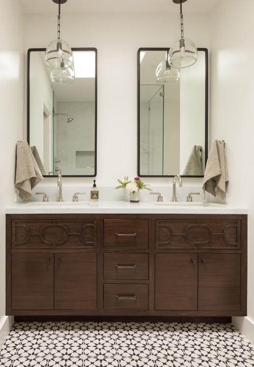 Master bathroom pendants over recessed medicine cabinet hillsborough more info mozeypictures Choice Image