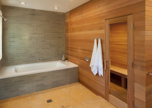 Hillsborough master bath modern bathroom san for Master bathroom with sauna