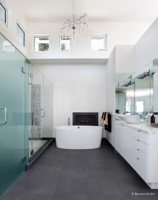 Hillsborough Modern Home modern-bathroom