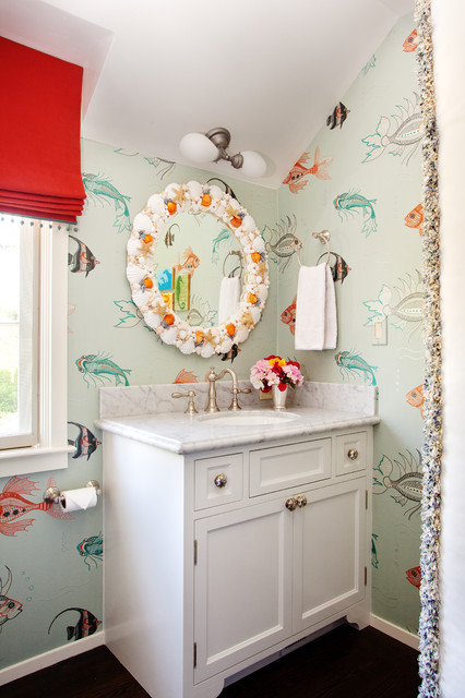 Interior Bathroom Design with Wall Art