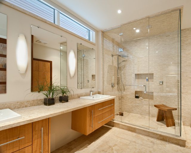 Hillside home bathroom contemporary bathroom for Bathroom designs ottawa