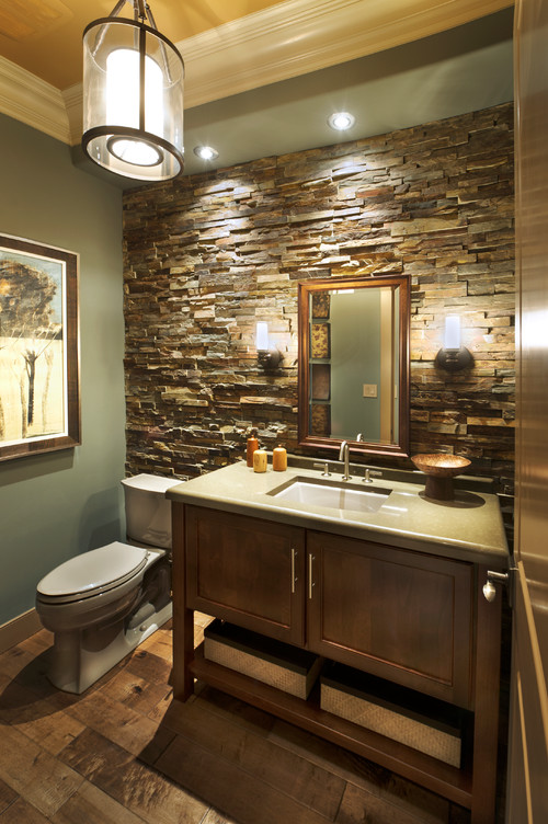 how did you fit the rock behind the toilet. Black Bedroom Furniture Sets. Home Design Ideas