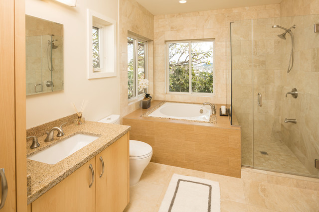 Hillside House With Anese Influences Asian Bathroom