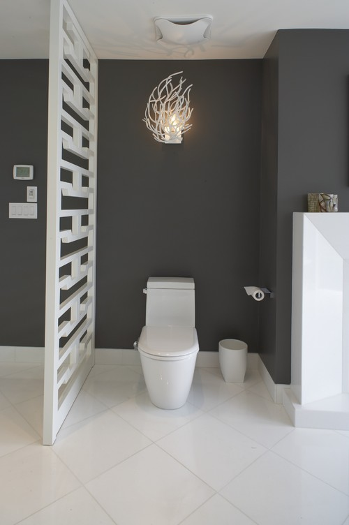Clever Design Ideas To Hide The Toilet Adorable Bathroom Partition Wall Interior