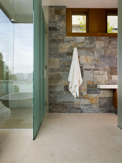 Hillside Residence rustic-bathroom