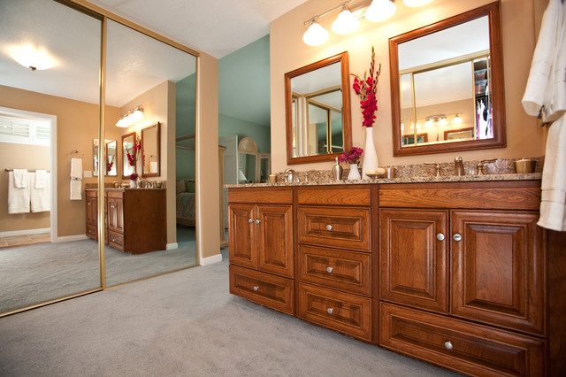 His And Her Double Vanity Traditional Bathroom
