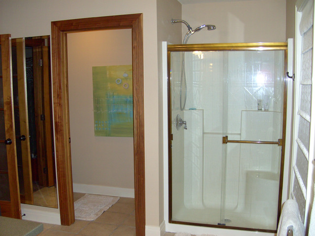 His and Her Vanities contemporary-bathroom