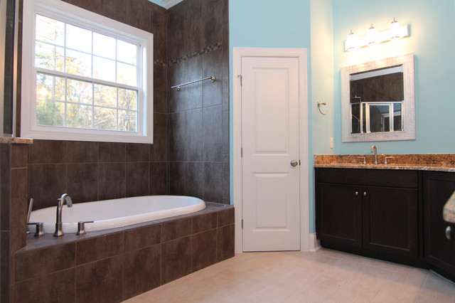 His And Her Vanities Transitional Bathroom Raleigh
