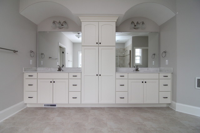 His And Her Vanity Design Traditional Bathroom