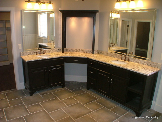 His And Her Vanity Contemporary Bathroom Raleigh